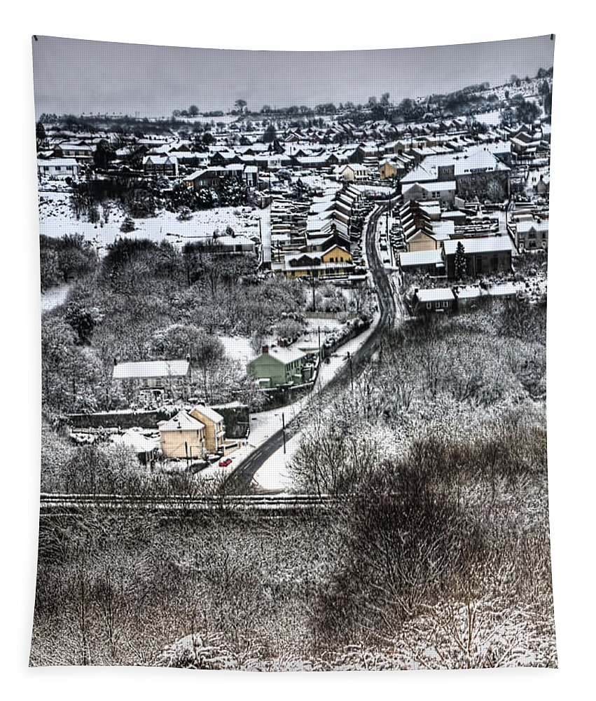 Winter Tapestry featuring the photograph Rhymney Valley Winter by Steve Purnell