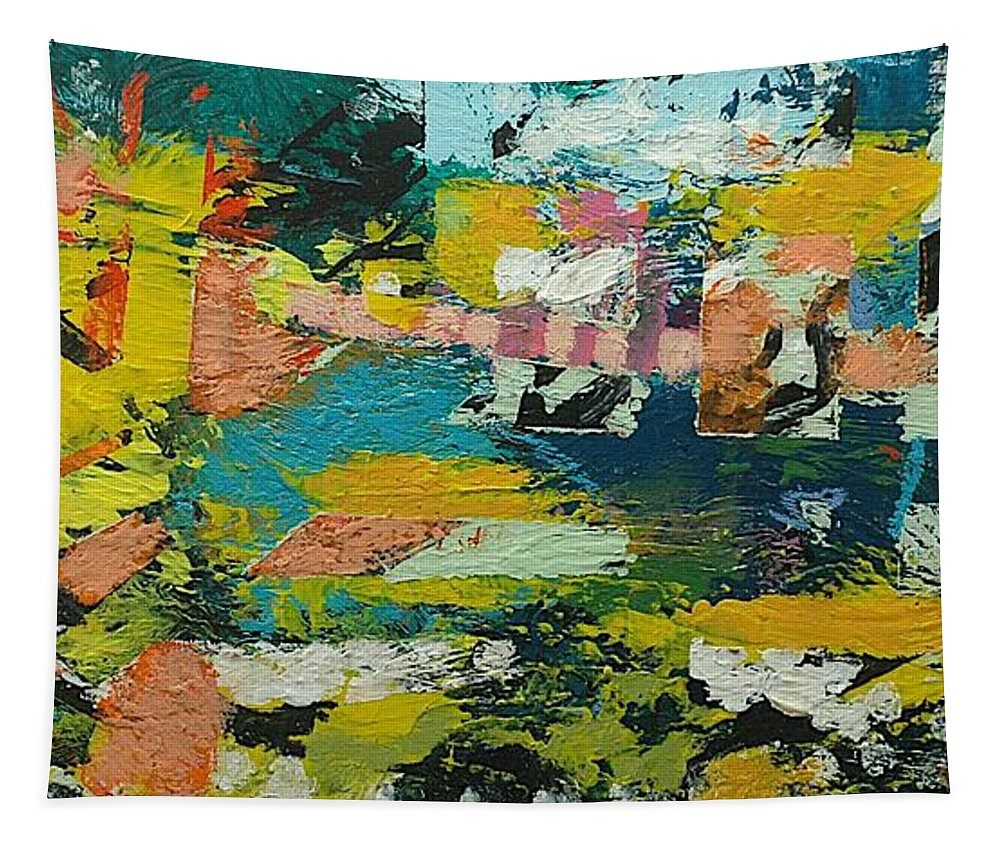 Landscape Tapestry featuring the painting Rhythm On Jackson by Allan P Friedlander