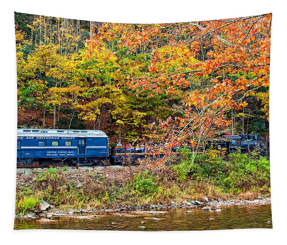 Pocahontas County Tapestry featuring the photograph Riding The Rocket 2 by Steve Harrington