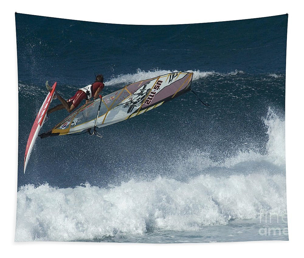 Extreme Sports Tapestry featuring the photograph Riding The Wind by Bob Christopher
