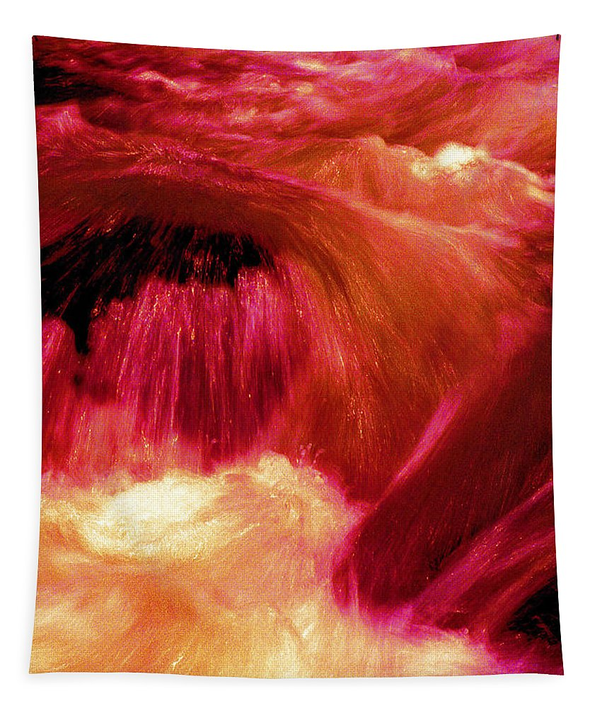 Abstract Tapestry featuring the photograph River from Hell by Paul W Faust - Impressions of Light