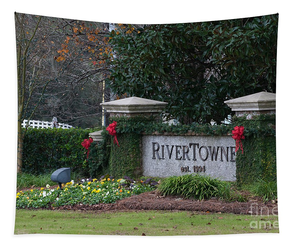 Rivertowne Tapestry featuring the photograph Rivertowne by Dale Powell
