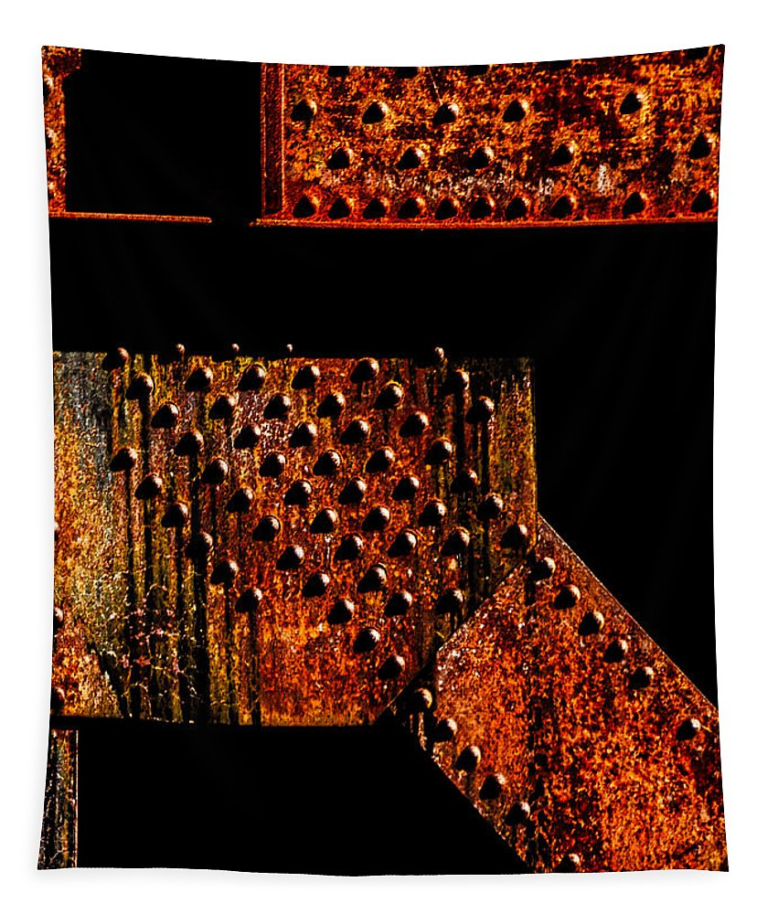 Rivets Tapestry featuring the photograph Rivets Number Two by Bob Orsillo