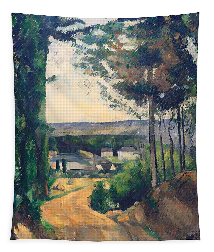 Painting Tapestry featuring the painting Road Leading To A Lake by Mountain Dreams