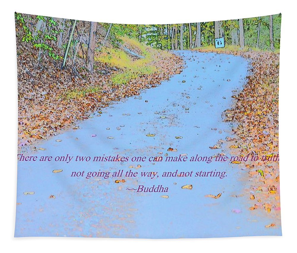 Road To Truth Tapestry featuring the photograph Road To Truth by Sonali Gangane