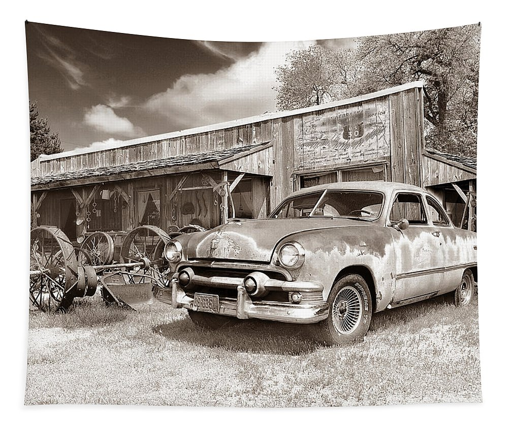Antiques Tapestry featuring the photograph Roadside Antiques by John Anderson