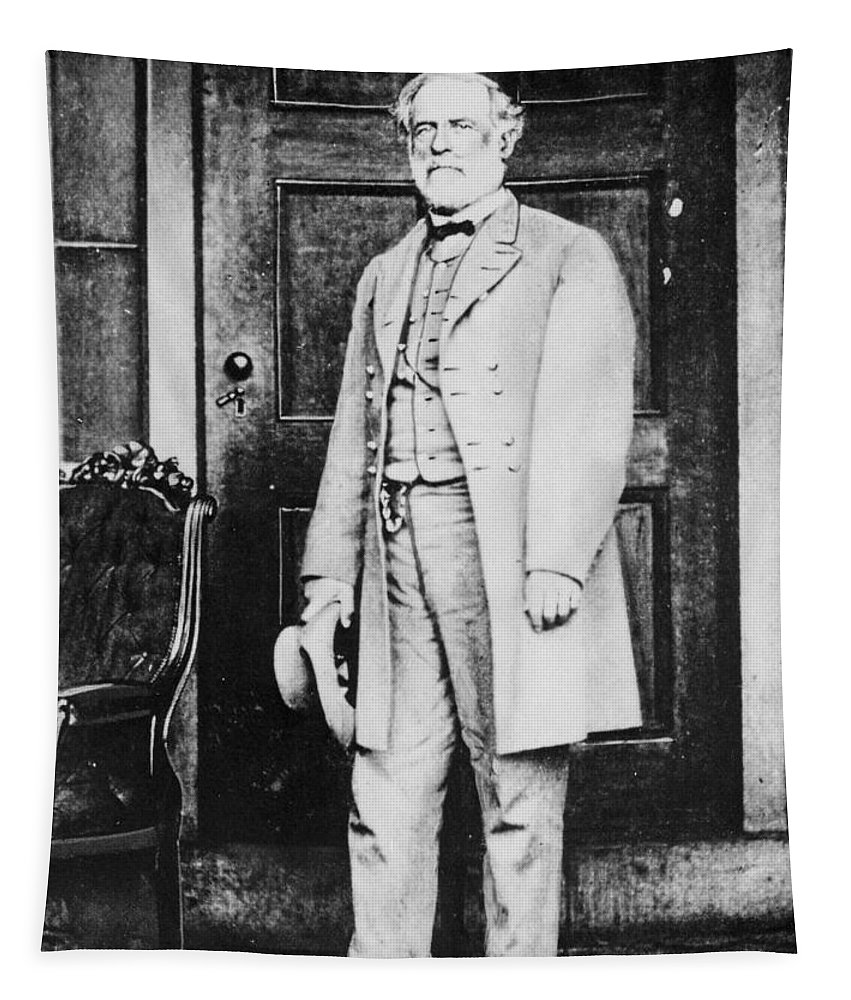 Male Tapestry featuring the photograph Robert Edward Lee by American Photographer
