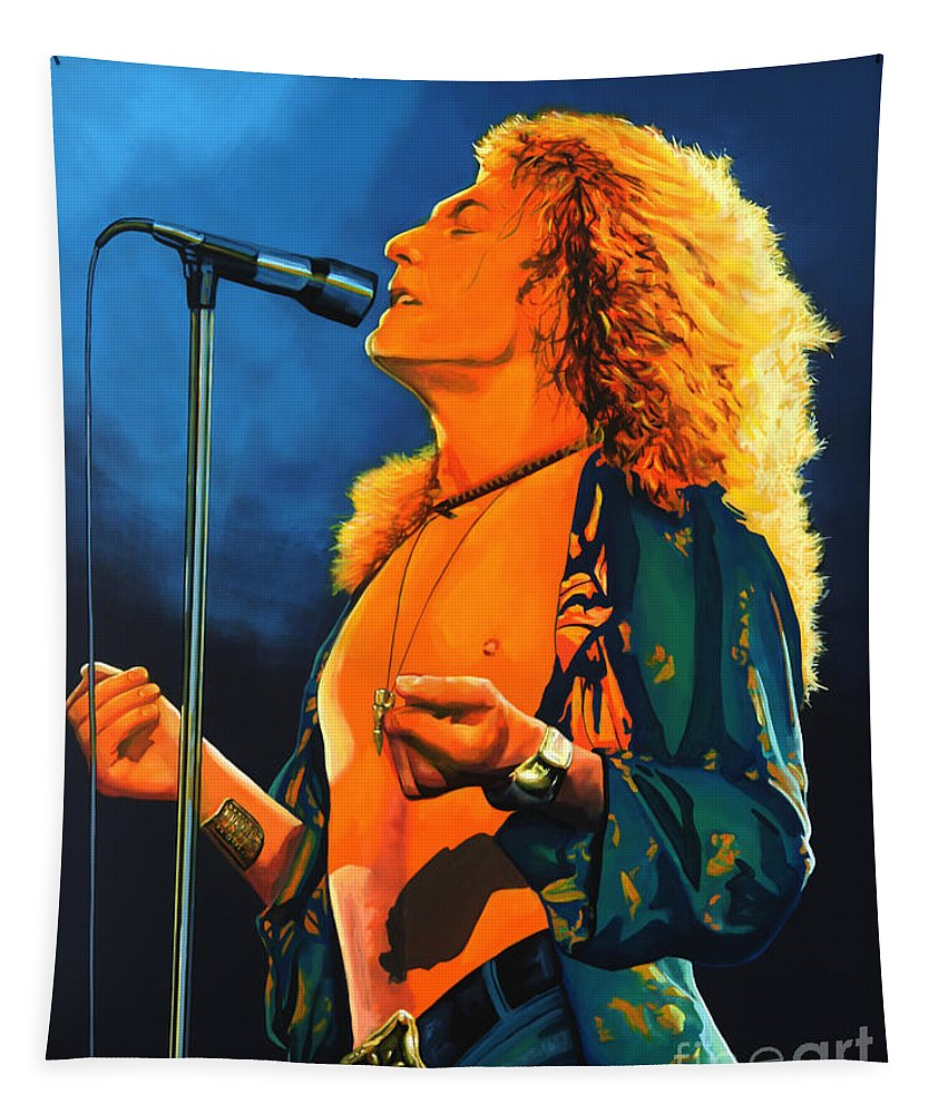 Robert Plant Tapestry featuring the painting Robert Plant by Paul Meijering