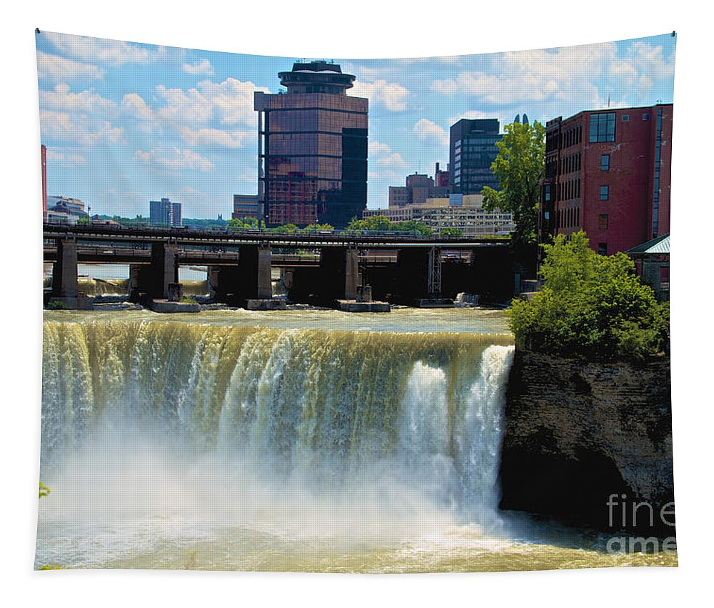 Rochester Tapestry featuring the photograph Rochester At High Falls by William Norton