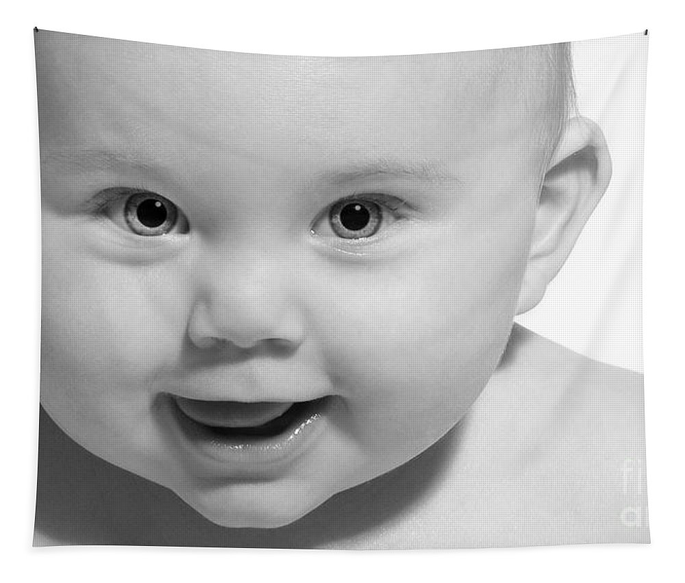 Festblues Tapestry featuring the photograph Rockababy.. by Nina Stavlund