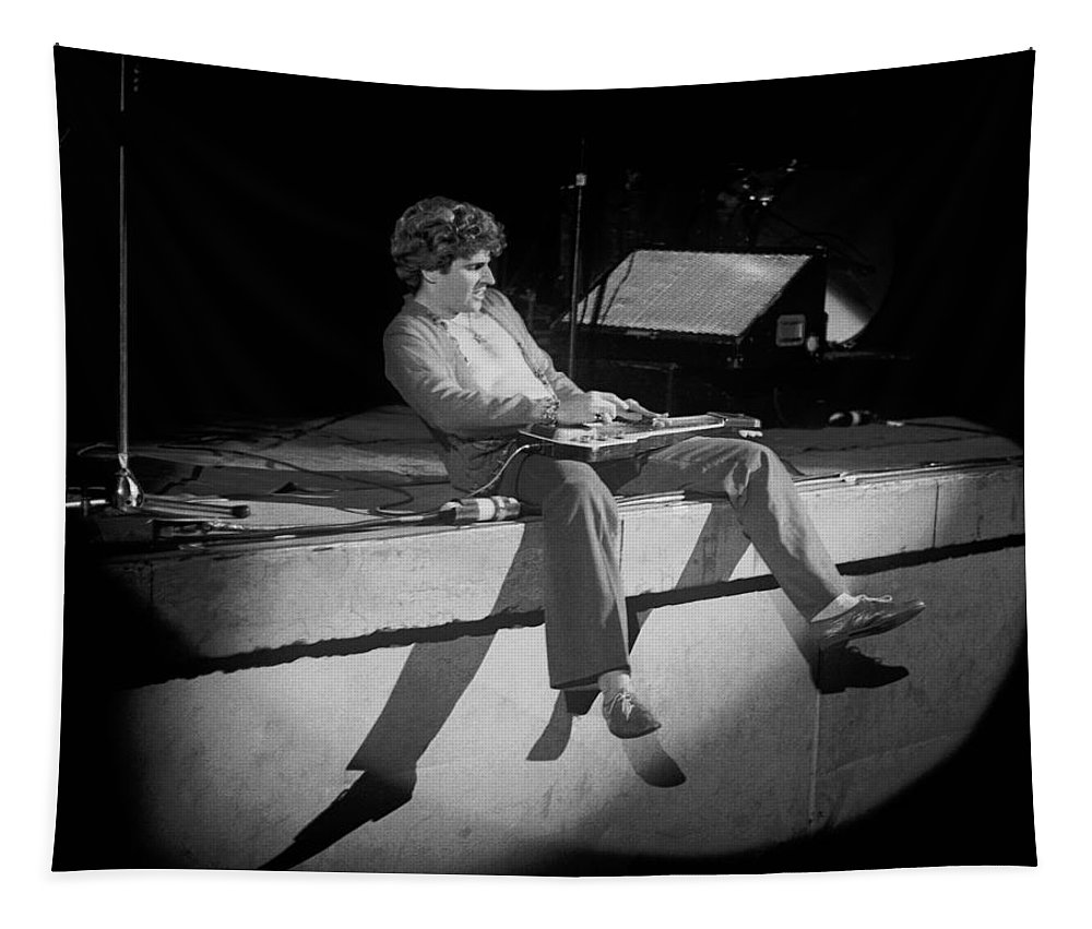 Sammy Hagar Tapestry featuring the photograph Rocking In Spokane On 2-2-77 by Ben Upham