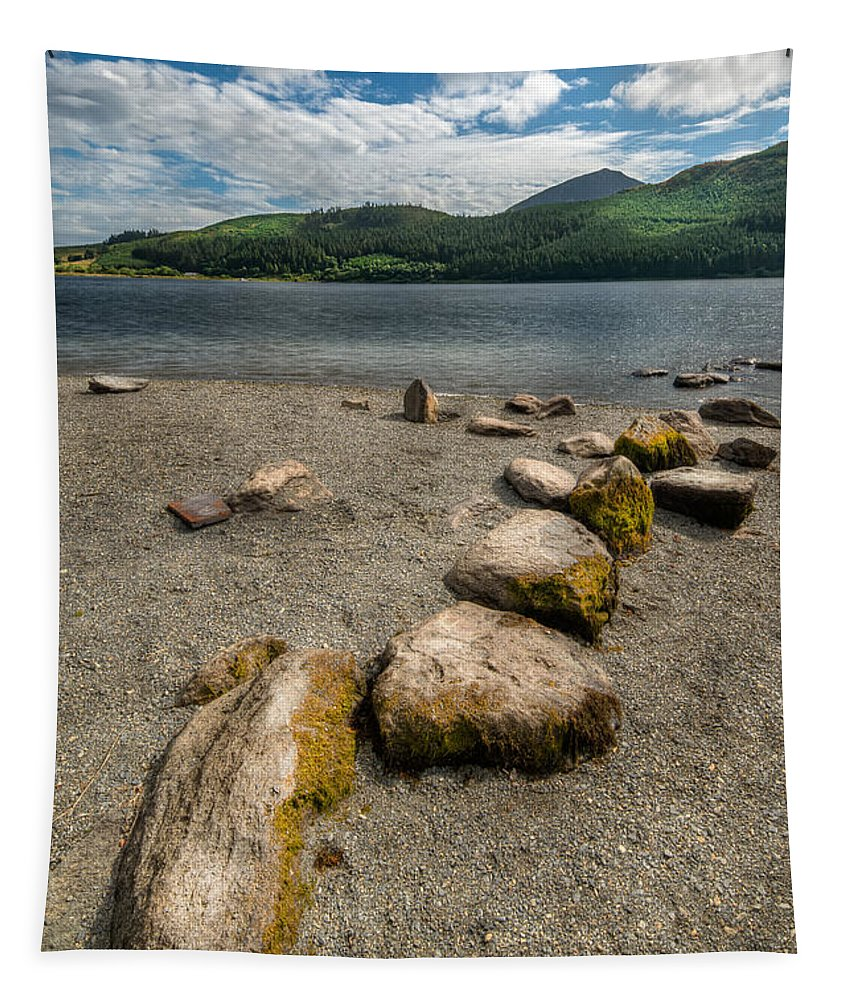 Hdr Tapestry featuring the photograph Rocky Beach by Adrian Evans