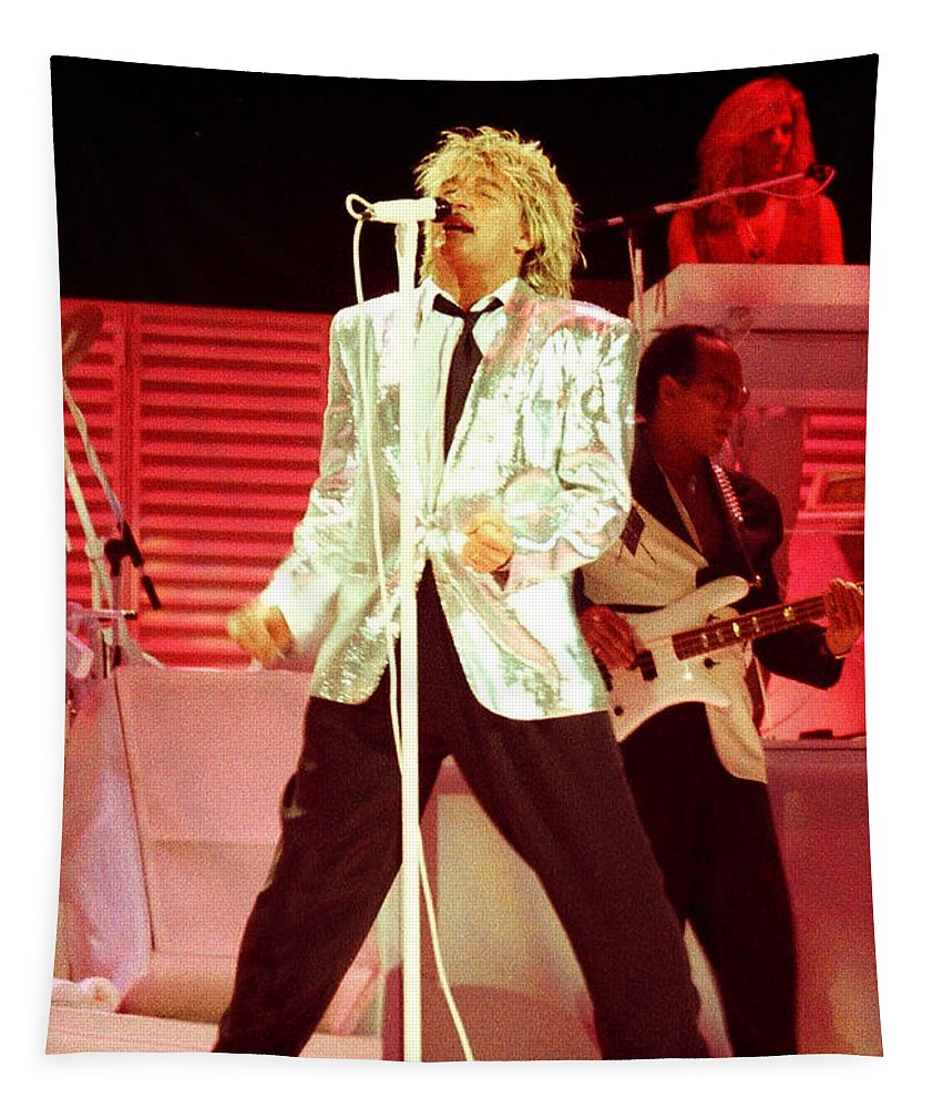 Rod Stewart Tapestry featuring the photograph Rod Stewart A4a-3 by Gary Gingrich Galleries