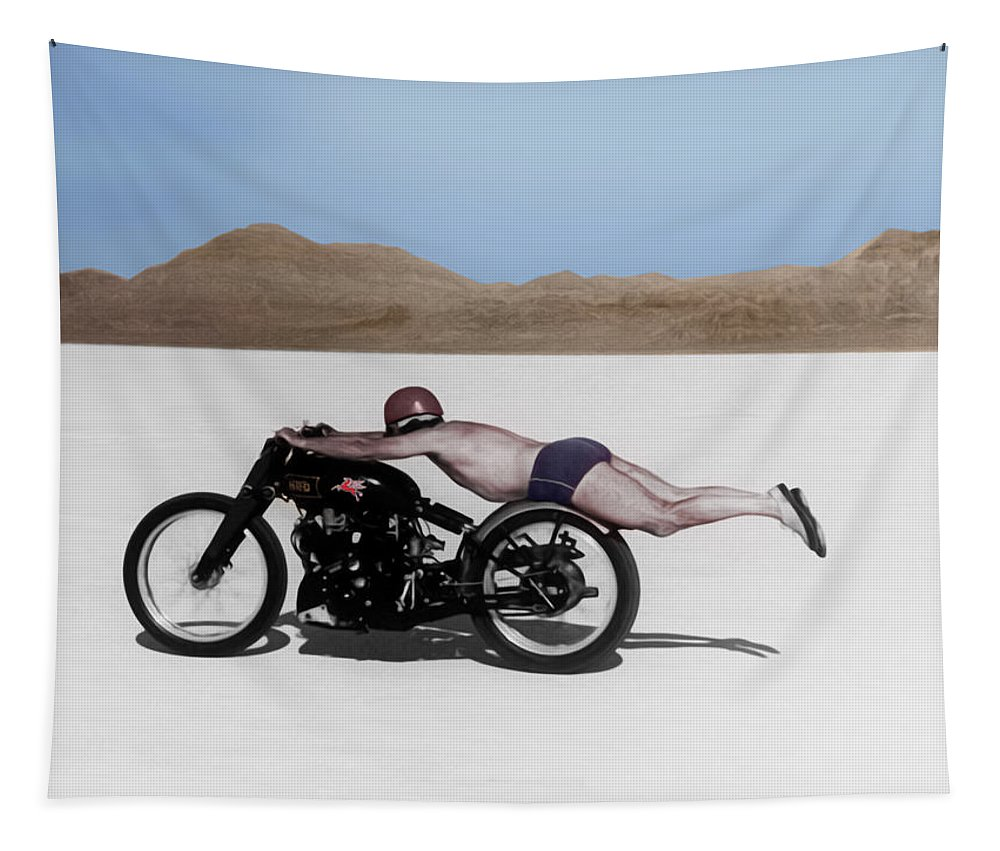 Rollie Free Tapestry featuring the photograph Roland Rollie Free by Mark Rogan