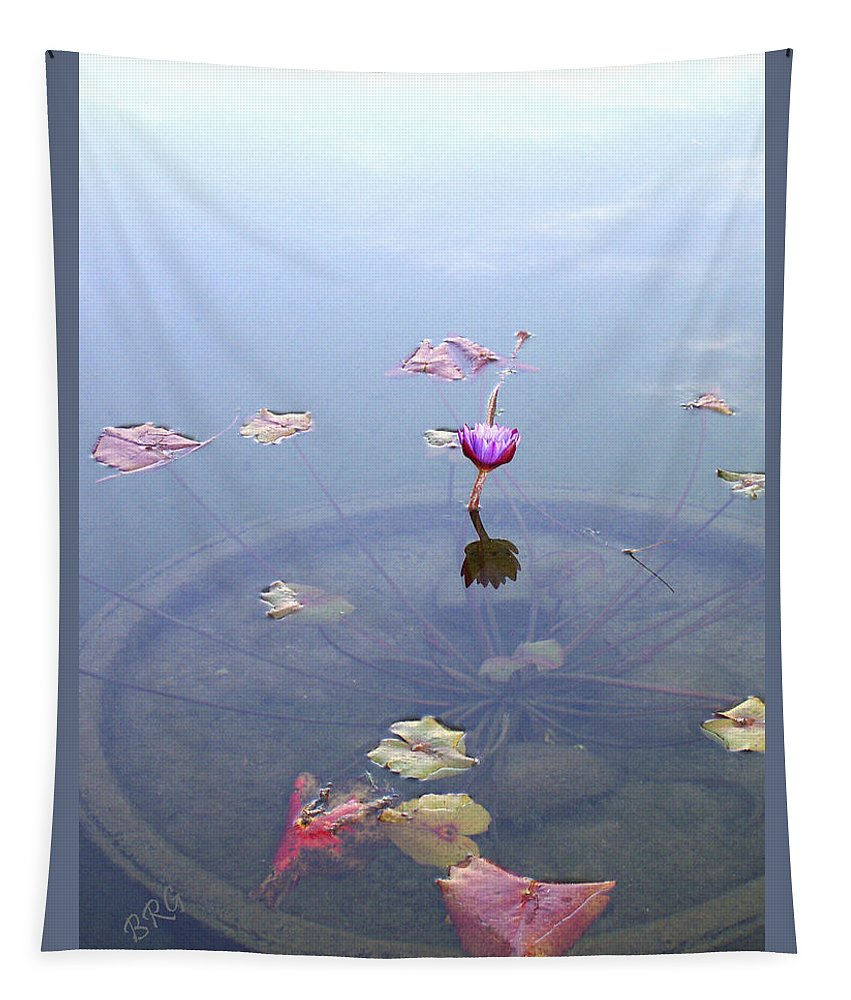 Waterlily Tapestry featuring the photograph Romantic Pond by Ben and Raisa Gertsberg