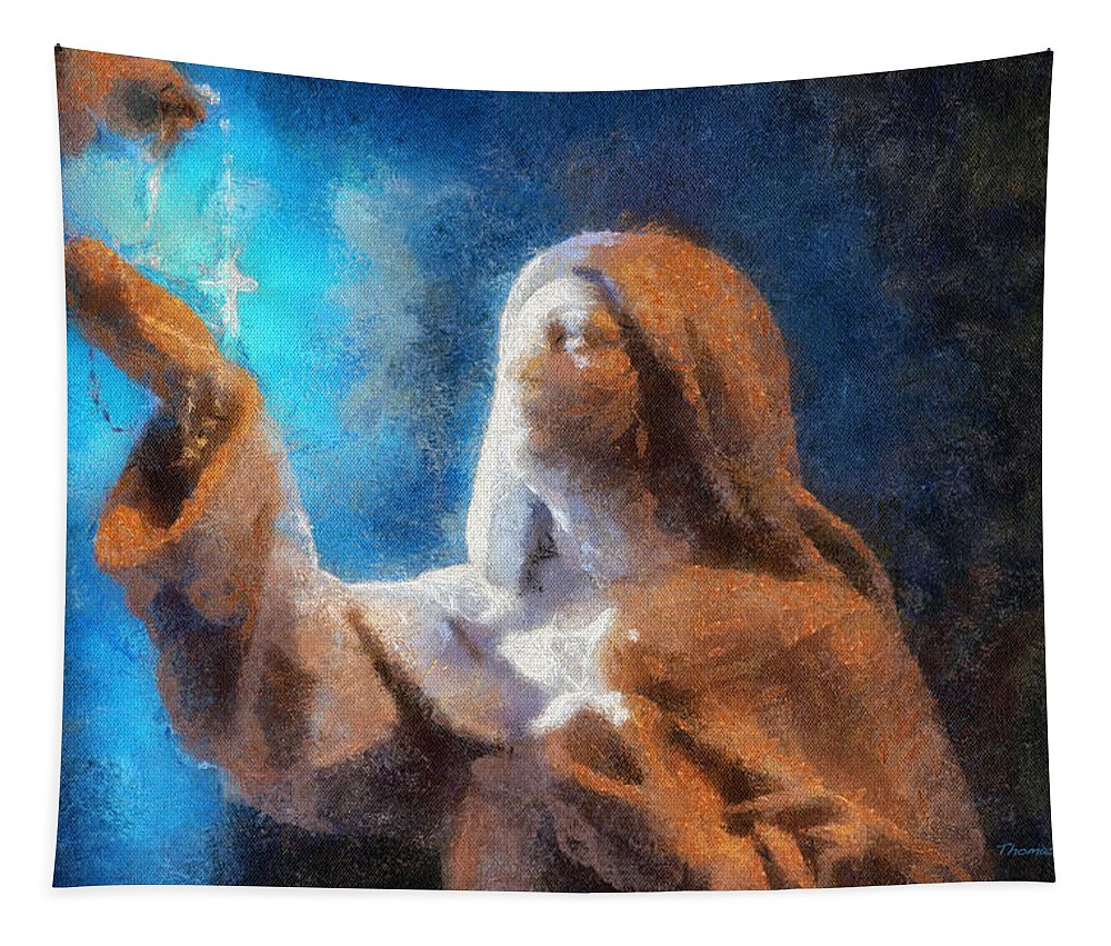Religion Tapestry featuring the photograph Rosary Photo Art by Thomas Woolworth