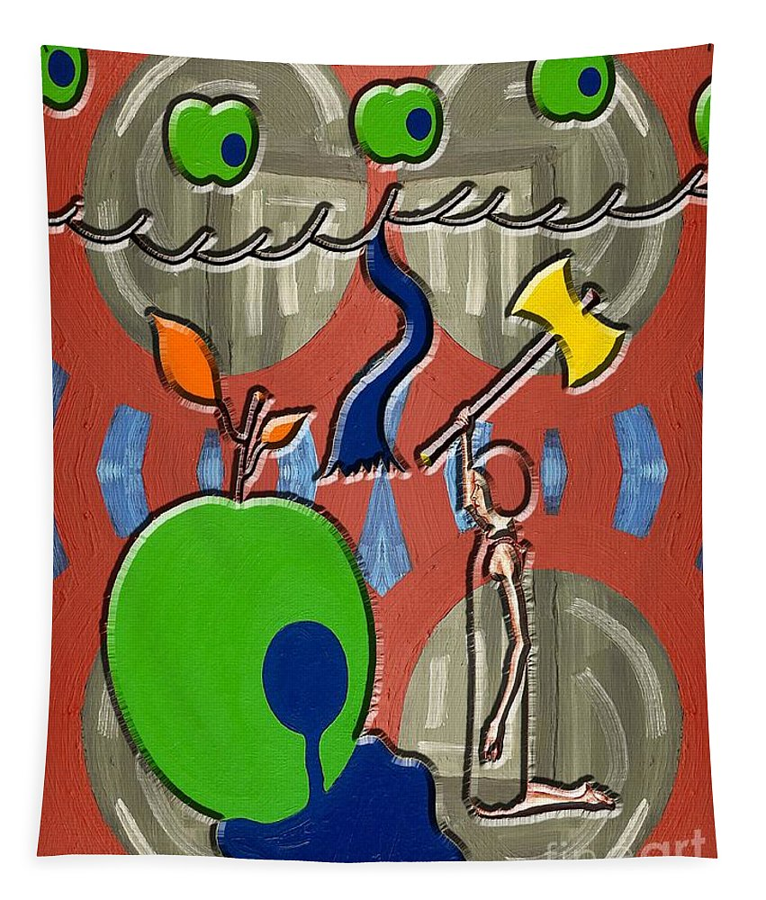 Surreal Tapestry featuring the painting Rotten Tree Rotten Fruit by Patrick J Murphy