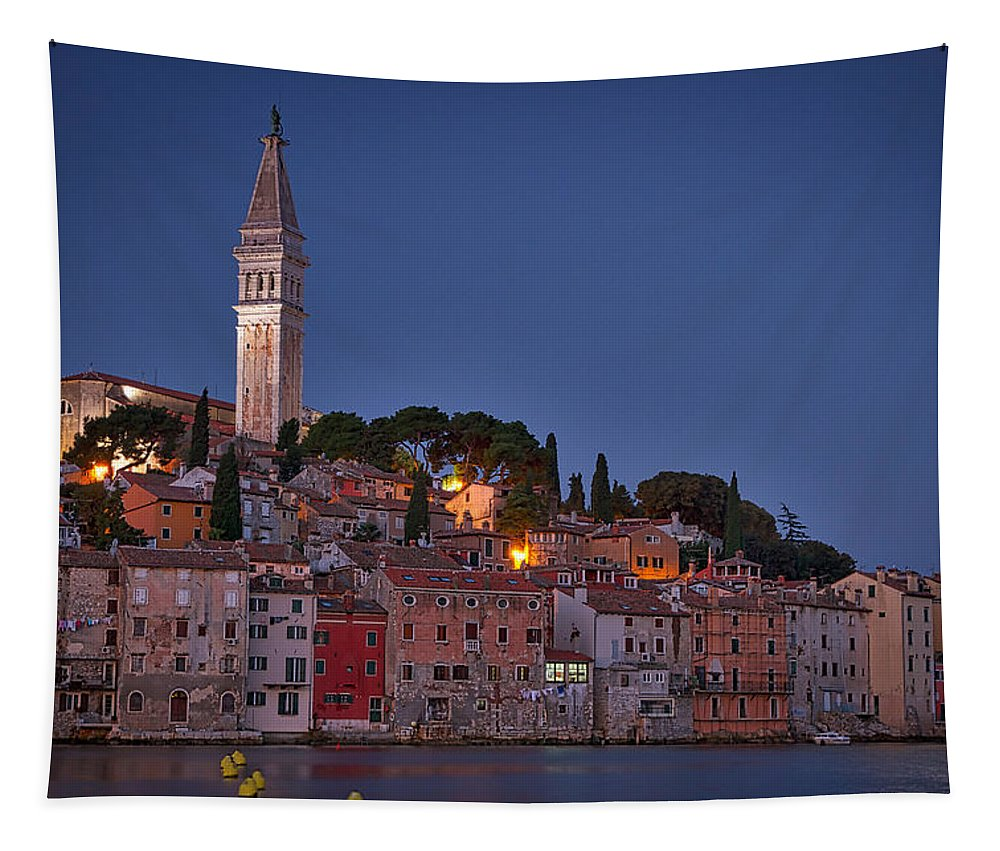 Dawn Tapestry featuring the photograph Rovinj Dawn - Croatia by Stuart Litoff