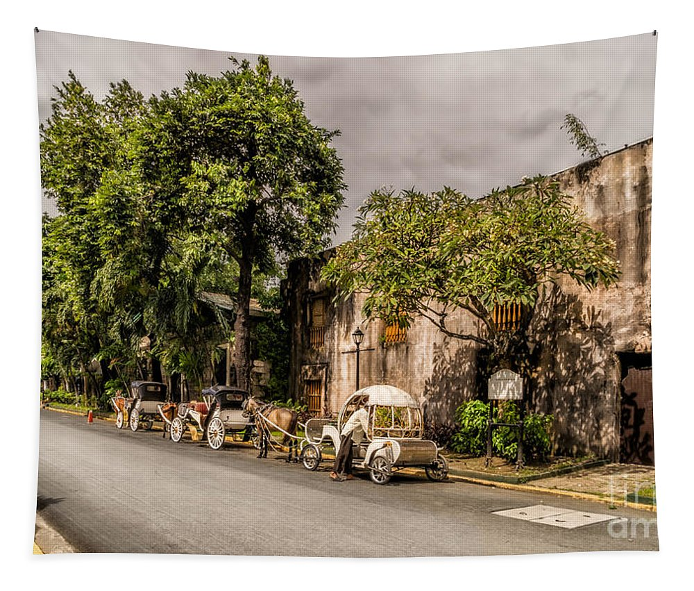 Fort Santiago Tapestry featuring the photograph Royal Warehouse by Adrian Evans