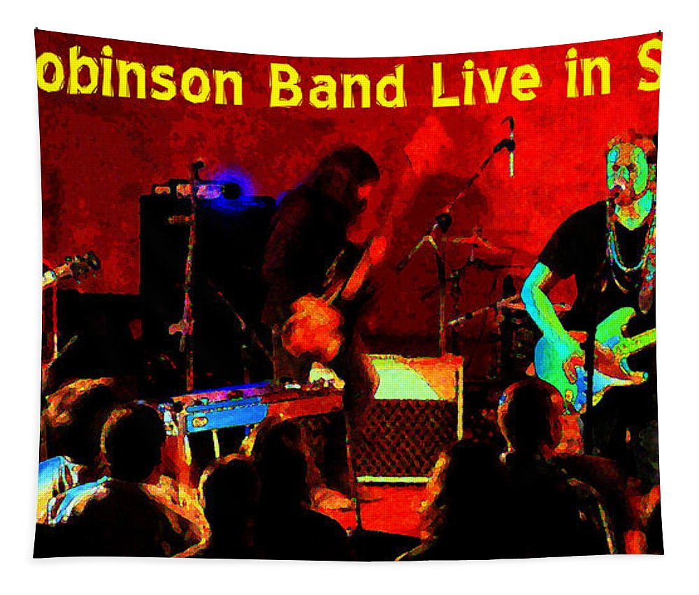 Rich Robinson Tapestry featuring the photograph Rrb #47 Crop 2 Enhanced In Cosmicolors With Text by Ben Upham