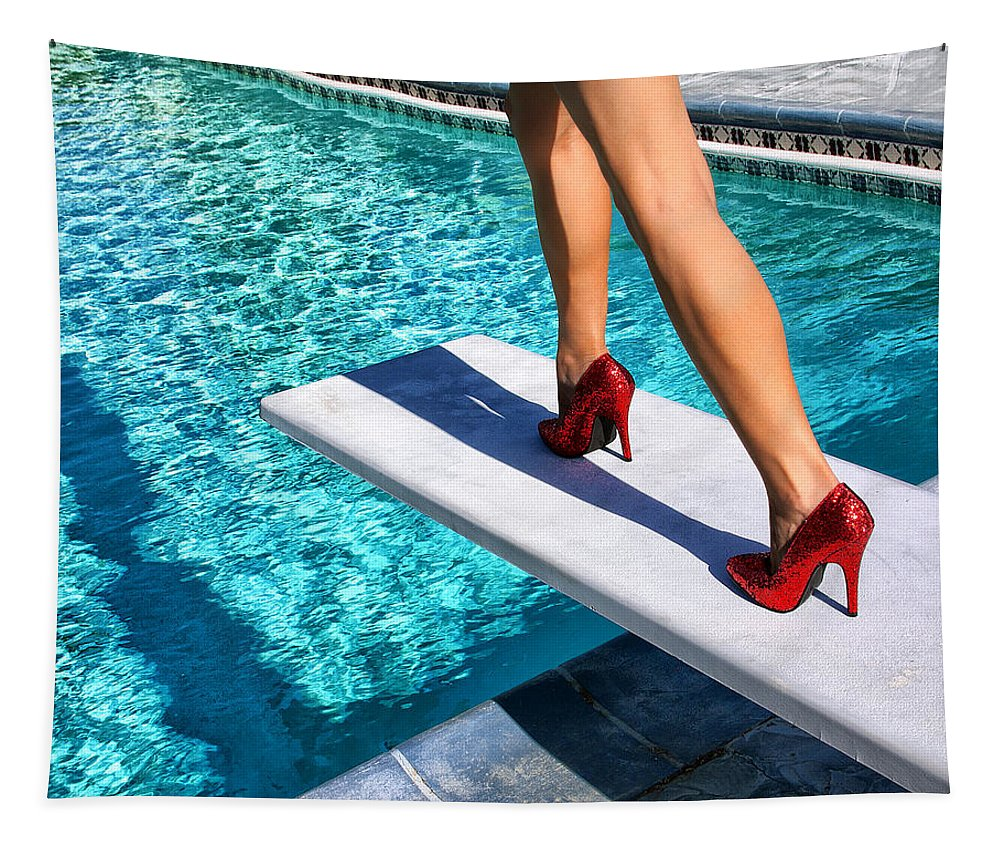 Featured Tapestry featuring the photograph RUBY HEELS Ready for take-off Palm Springs by William Dey