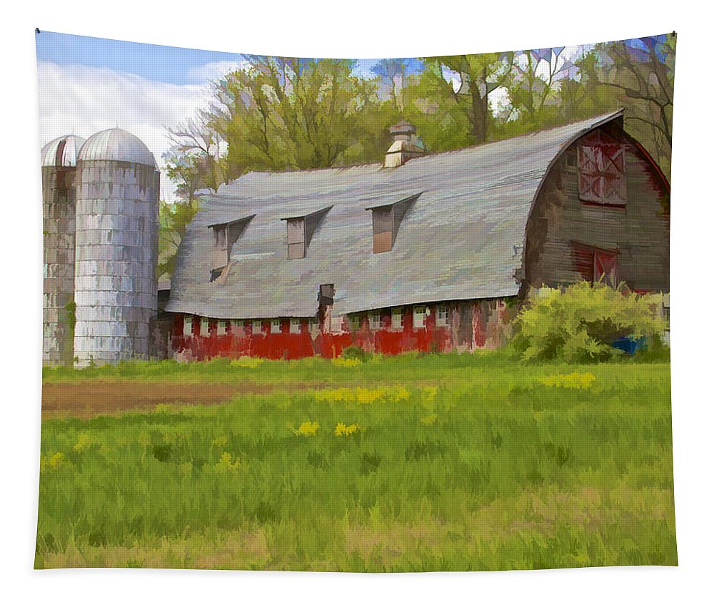 Abandon Tapestry featuring the photograph Rustic Red Barn by David Letts