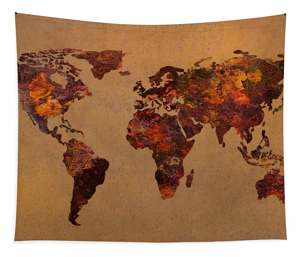 Rusty Vintage World Map On Old Metal Sheet Wall Tapestry on world map search engine, world map family, world map art, world map red, world map pillow, world map photography, world map poster, world map engraving, world map bedding, world map painting, world map leather, world map mosaic, world map lithograph, world map furniture, world map in spanish, world map legend, world map cross stitch pattern, world map collage, world map conspiracy, world map america,