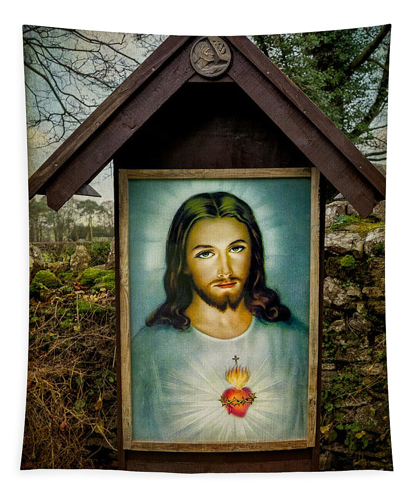 Catholic Tapestry featuring the photograph Sacred Heart Of Jesus by Adrian Evans