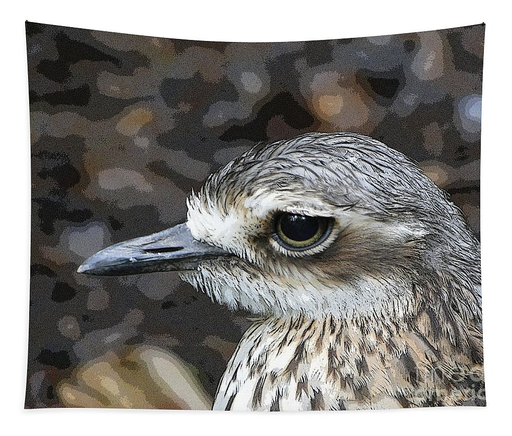 Birds Tapestry featuring the photograph Sad Eyes by Ben Yassa