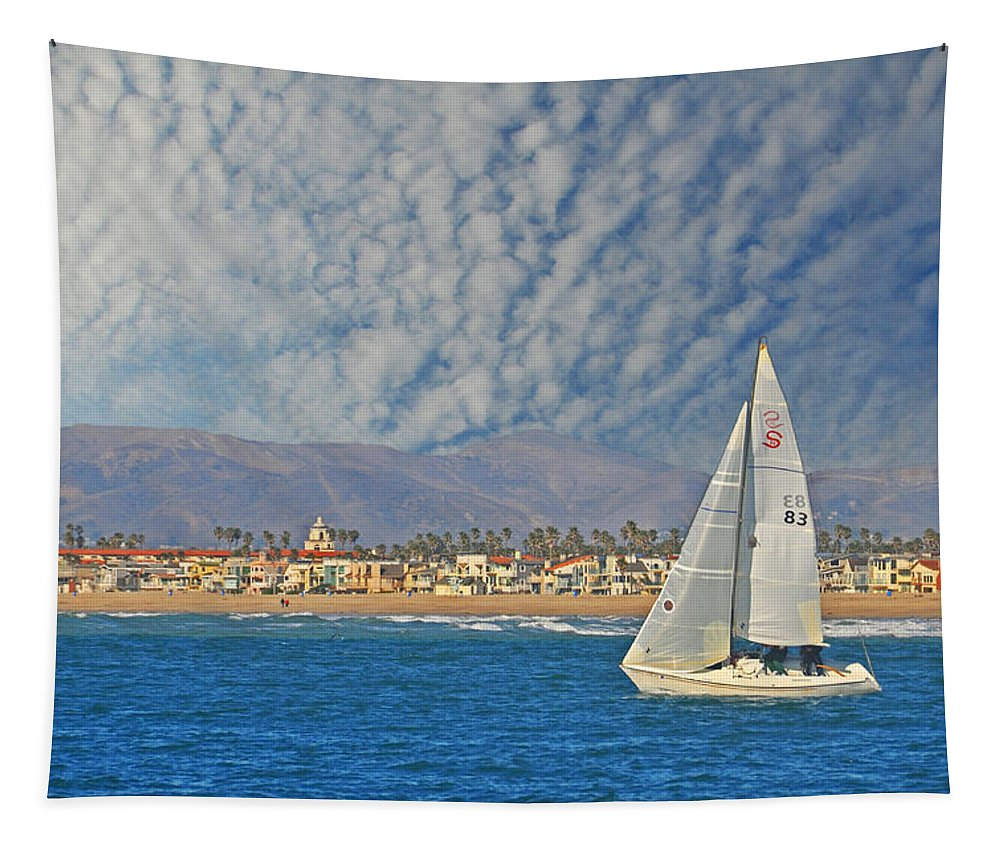 Sail Tapestry featuring the photograph Sailing The Blues Away by Lynn Bauer