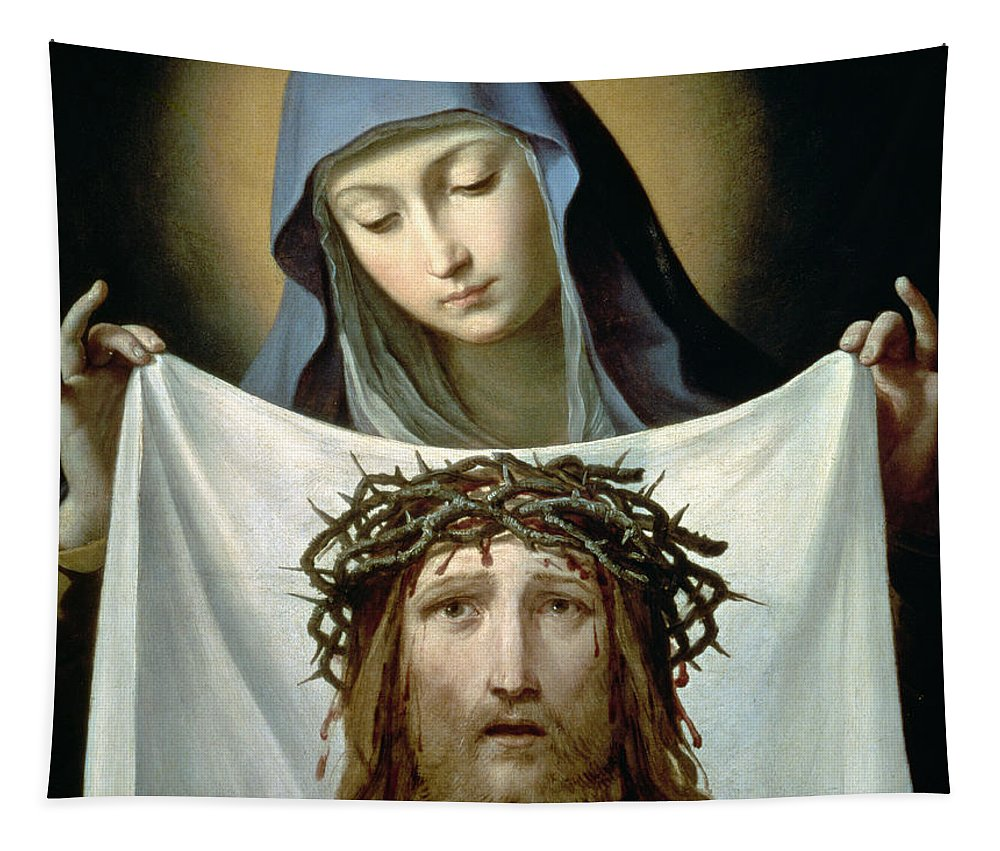 Son Of God Tapestry featuring the painting Saint Veronica by Guido Reni