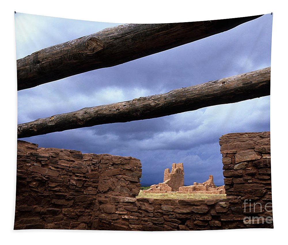 Salinas Pueblo Mission Ruins Tapestry featuring the photograph Salinas Pueblo Mission Abo Ruins 5 by Bob Christopher