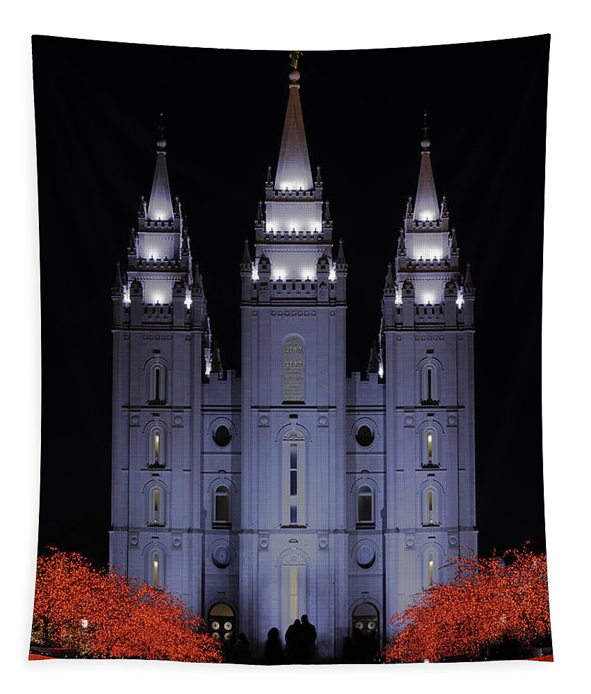 Salt Lake Christmas Tapestry featuring the photograph Salt Lake Christmas by Chad Dutson