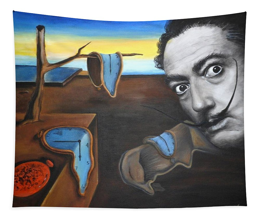 Persistence Tapestry featuring the painting Salvador Dali by Yelena Day