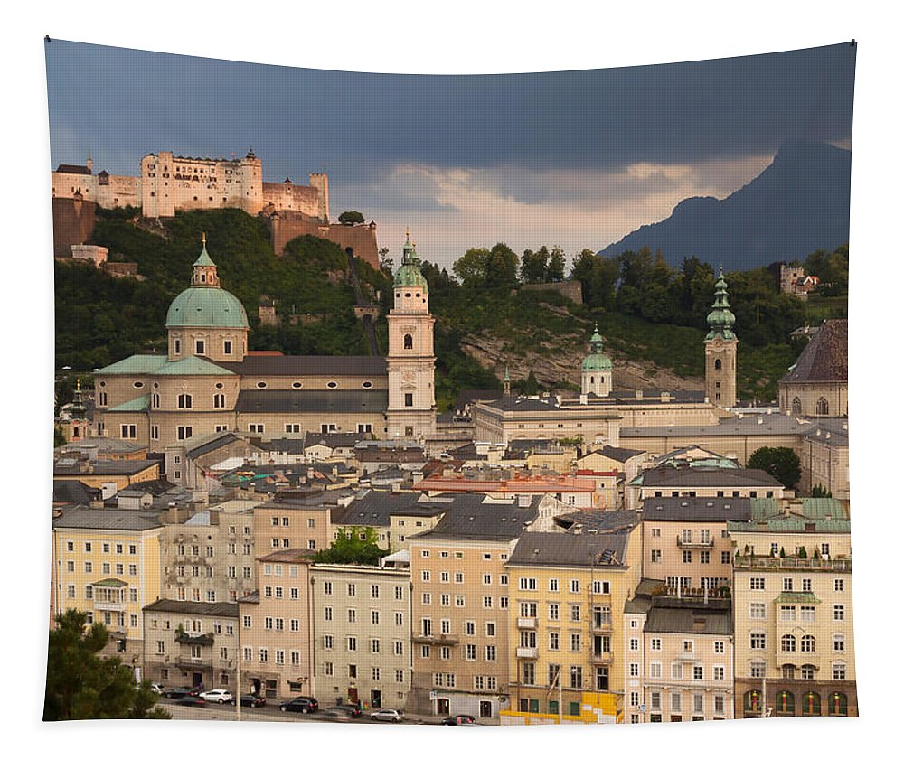 Alps Tapestry featuring the photograph Salzburg After The Storm by Jaroslav Frank