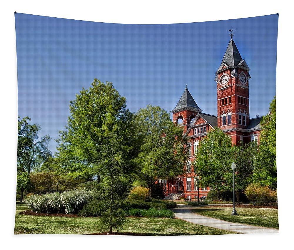 Auburn University Tapestry featuring the photograph Samford Hall - Auburn University by Mountain Dreams