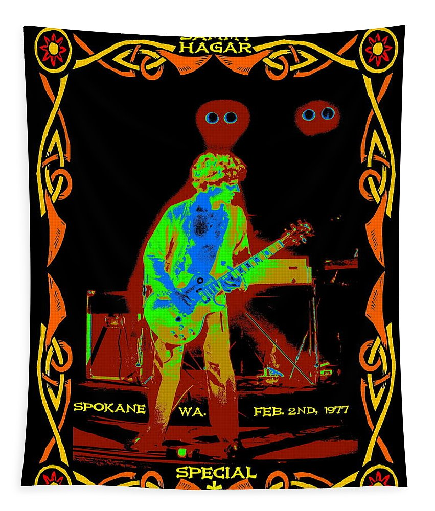 Sammy Hagar Tapestry featuring the photograph Sammy And Special Guests 1977 by Ben Upham