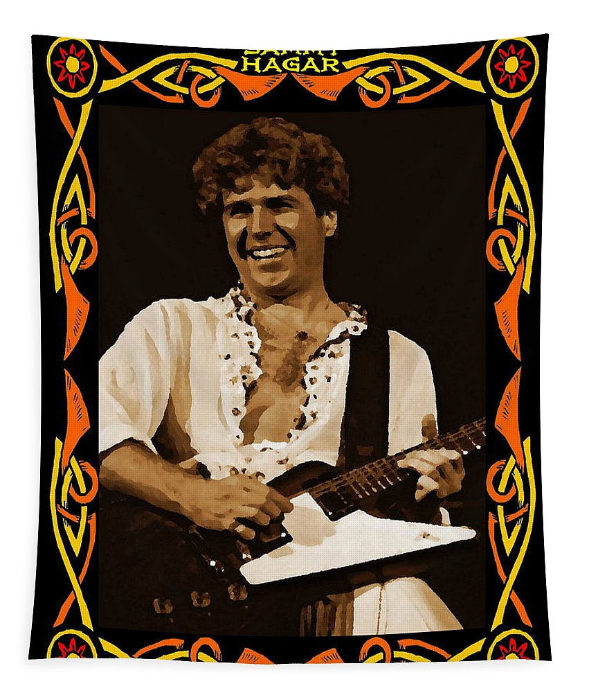 Sammy Hagar Tapestry featuring the photograph S H In Oakland 1977 by Ben Upham