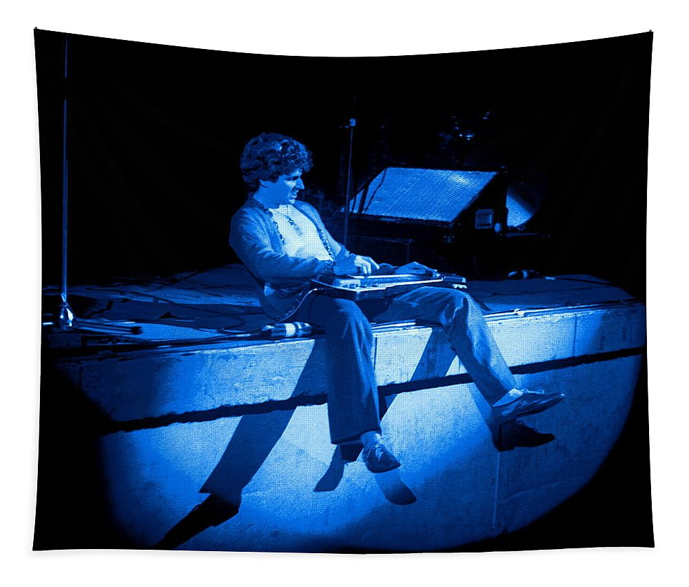 Sammy Hagar Tapestry featuring the photograph S H Plays The Blues In Spokane On 2-2-77 by Ben Upham