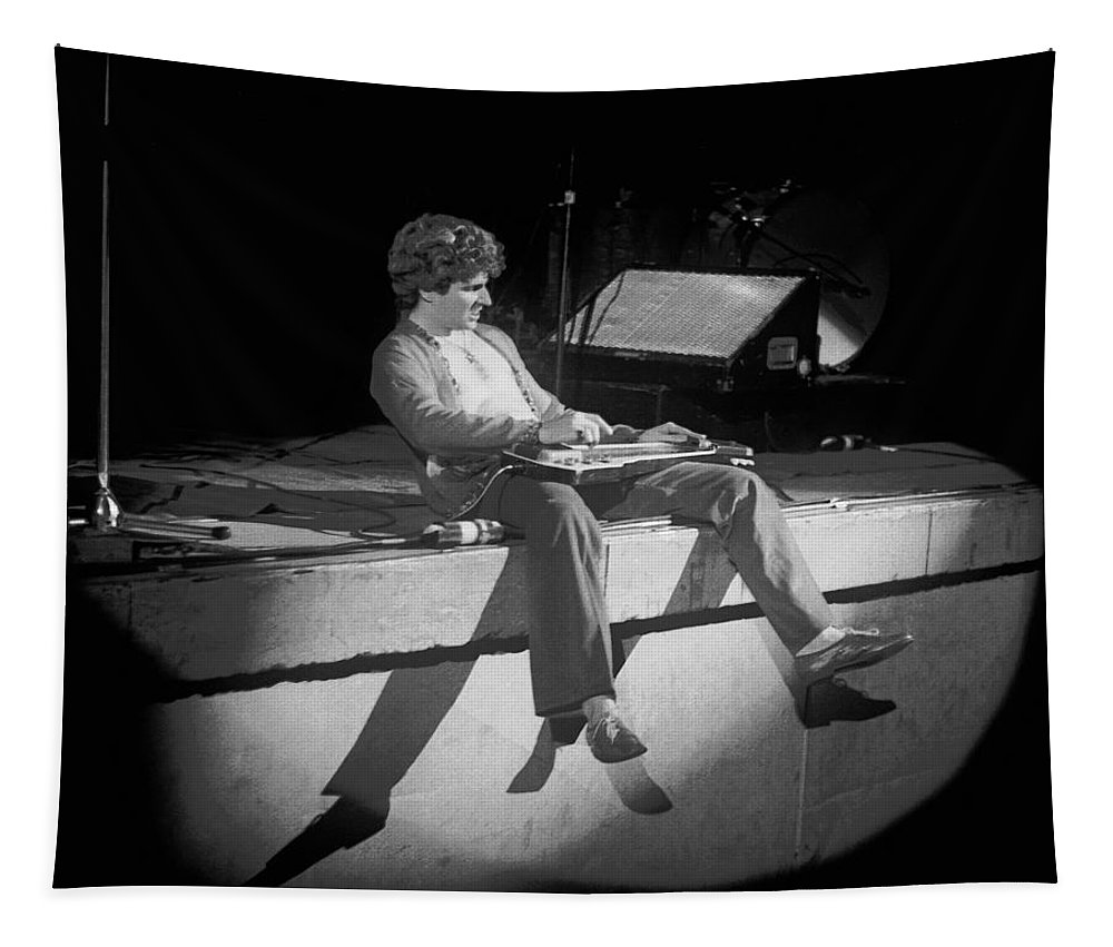 Sammy Hagar Tapestry featuring the photograph Sammy Tearing It Up In Spokane On 2-2-77 by Ben Upham