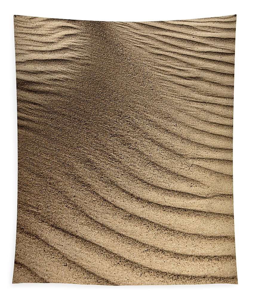 Abstract Tapestry featuring the photograph Sand Pattern Abstract - 3 by Nikolyn McDonald
