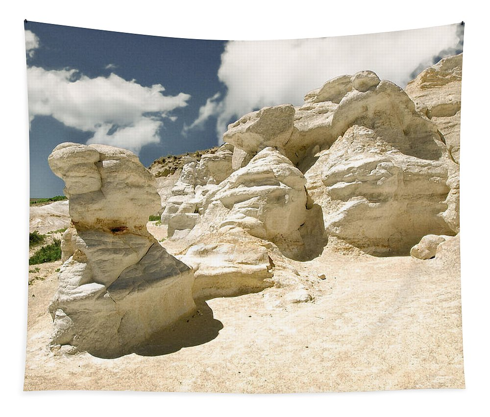Landscape Tapestry featuring the photograph Sandstone And Sky by John Anderson