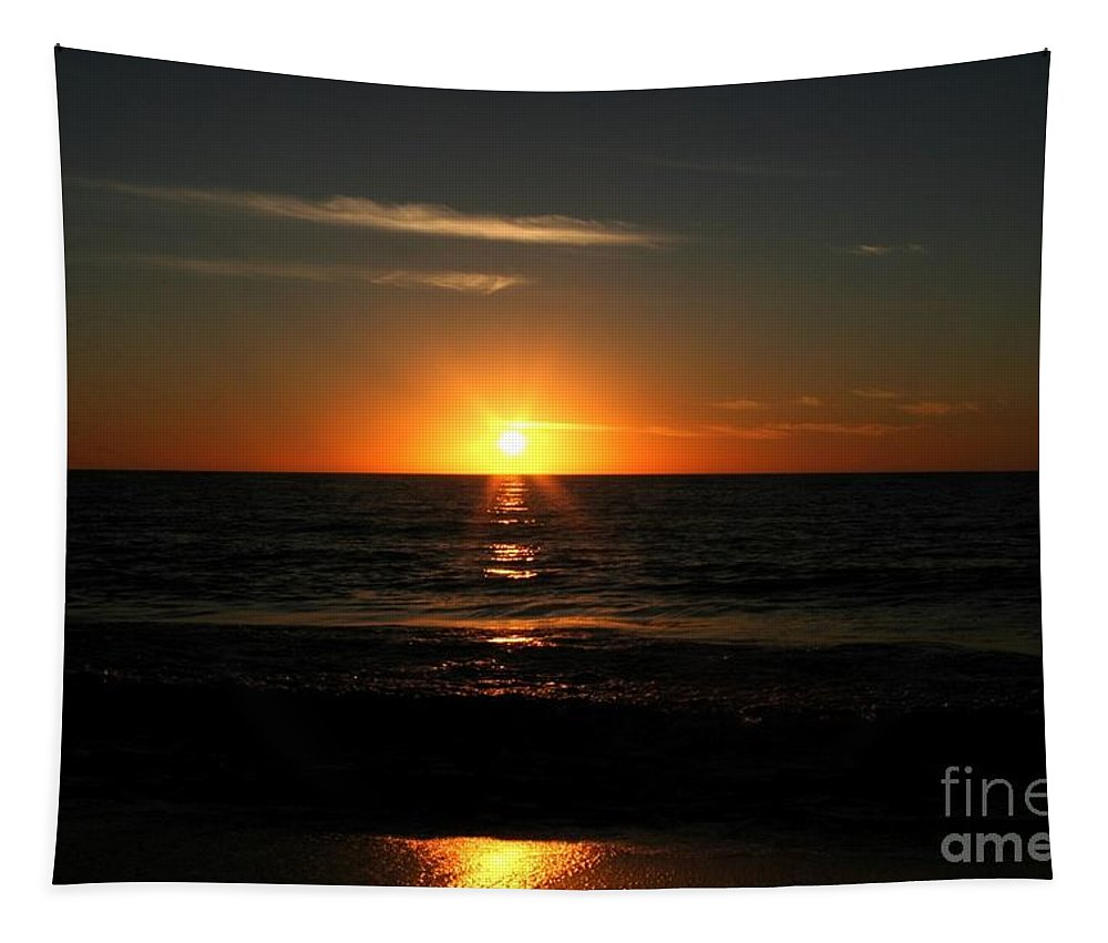 Sanibel Tapestry featuring the photograph Sanibel At Sunset by The Art of Alice Terrill