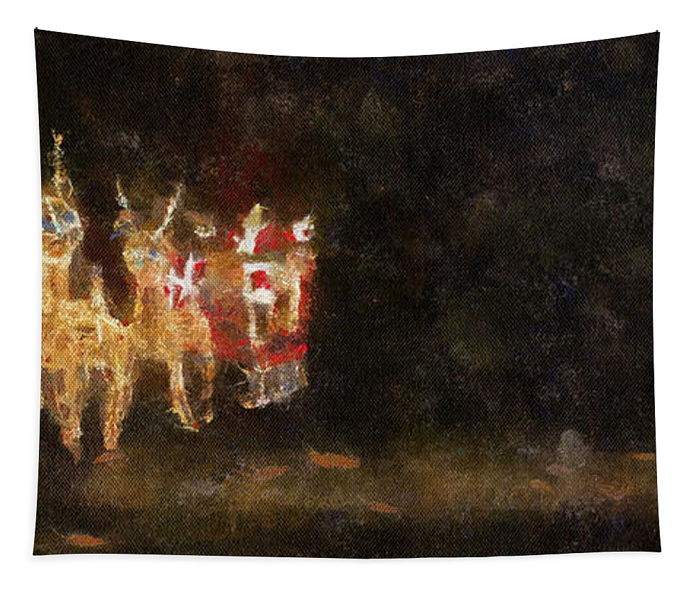 Christmas Tapestry featuring the photograph Santa Photo Art 03 by Thomas Woolworth