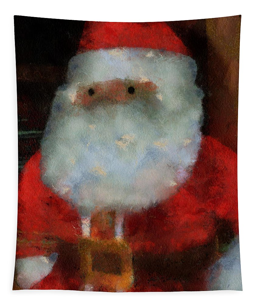 Christmas Tapestry featuring the photograph Santa Photo Art 13 by Thomas Woolworth