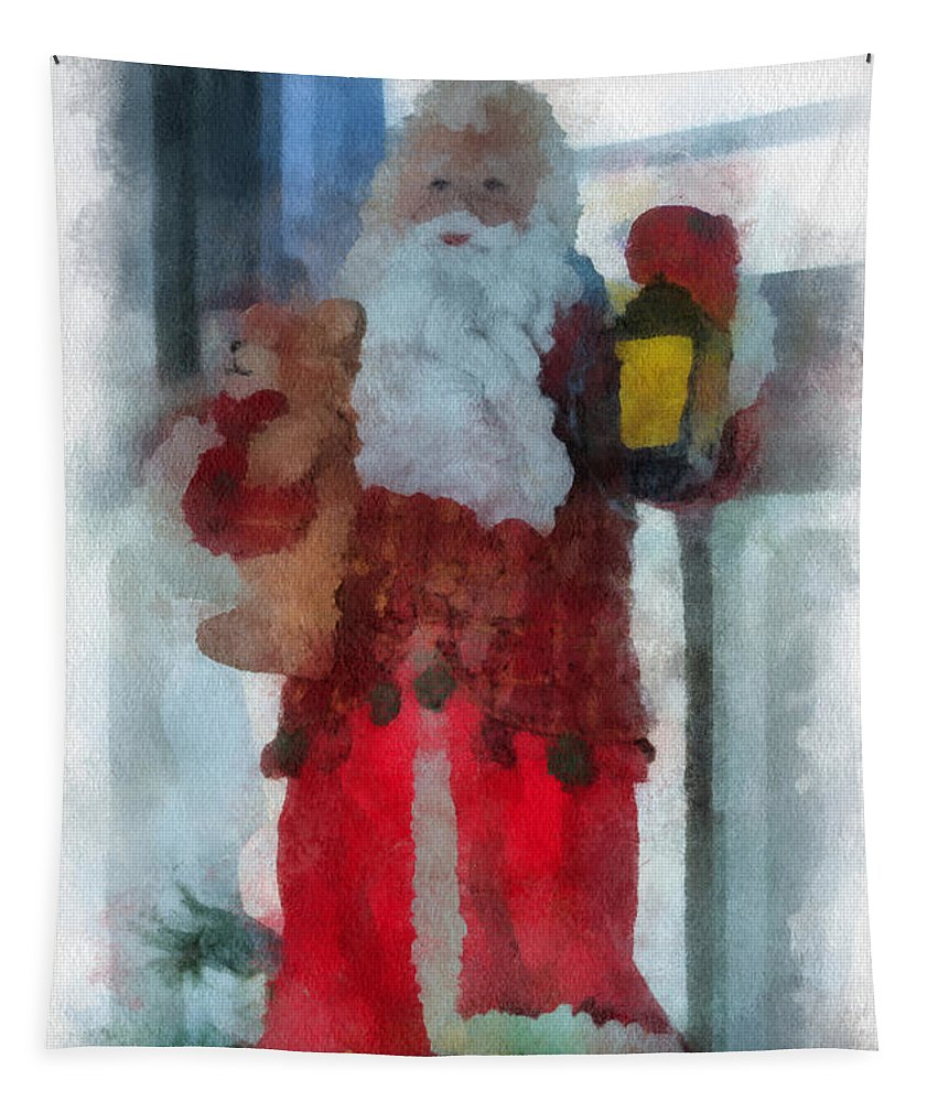 Christmas Tapestry featuring the photograph Santa Photo Art 14 by Thomas Woolworth