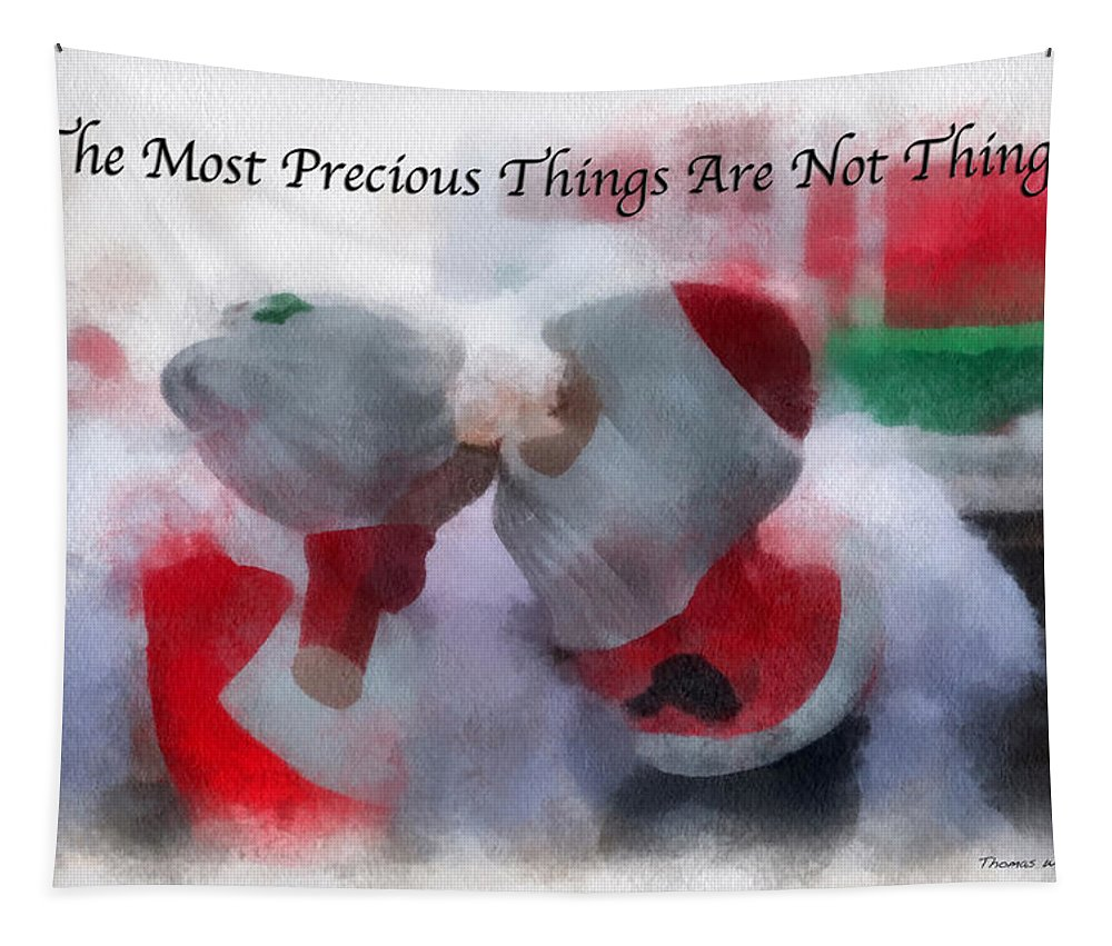 Christmas Tapestry featuring the photograph Santa The Most Precious Photo Art by Thomas Woolworth