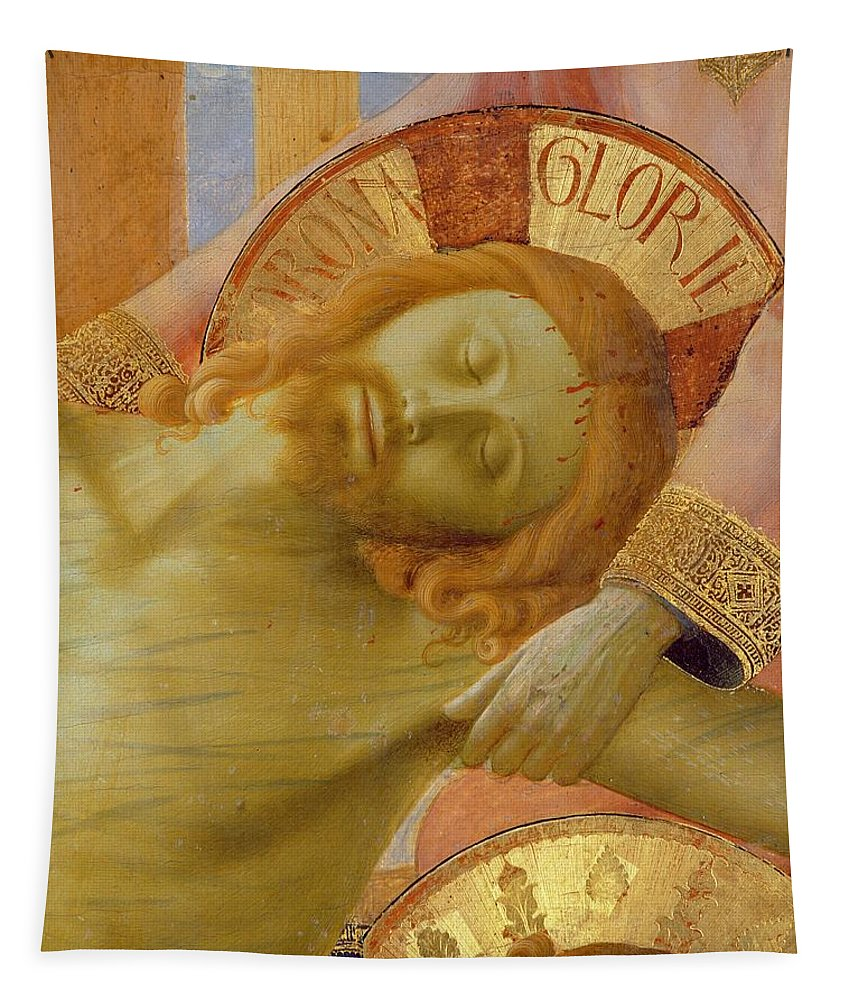 Corpse Tapestry featuring the painting Santa Trinita Altarpiece by Fra Angelico