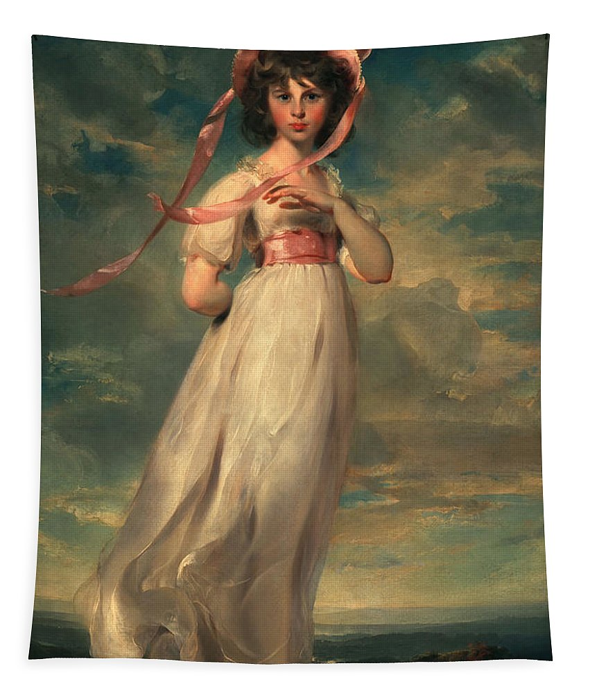 Female Tapestry featuring the painting Sarah Goodwin Barrett Moulton Pinie 1794 by Thomas Lawrence