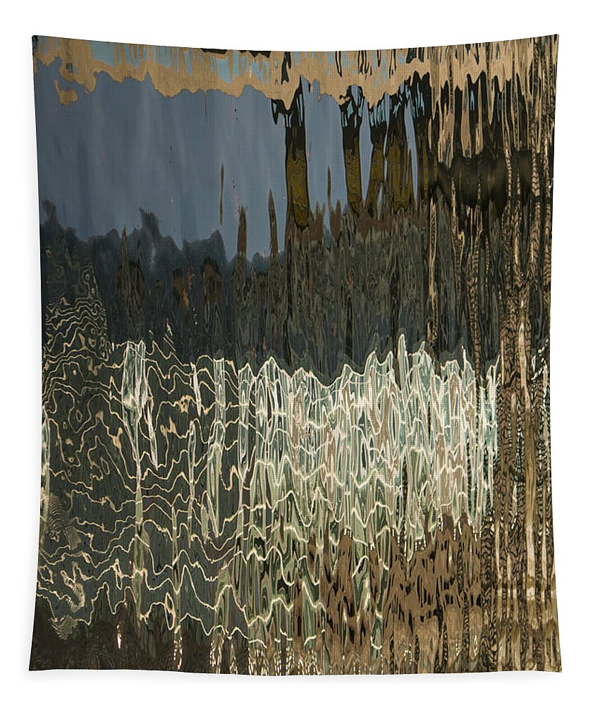 Silk Tapestry featuring the photograph Satin Silk And Moire Abstract - Vertical by Georgia Mizuleva